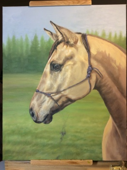"""Work in progress, horse painting of """"Ally"""""""