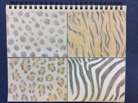 Page of patterns, colored pencil