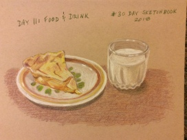 Food and drink, colored pencil