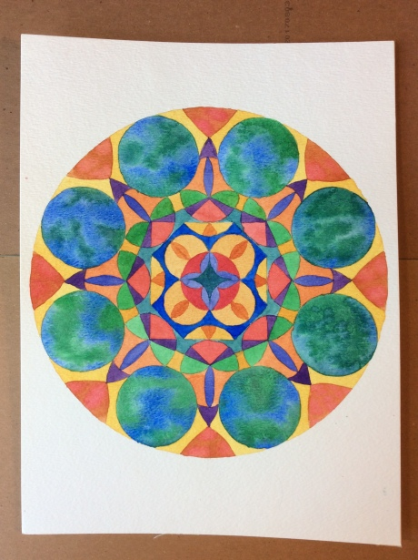 Mandala, watercolor