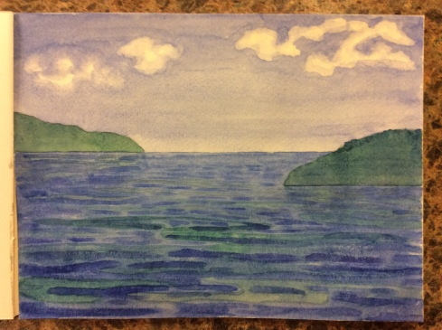 Something blue, watercolor